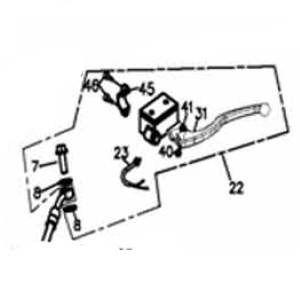 Bremszylinder Rechts kpl. Adly Her Chee ATV/Quad 280/320