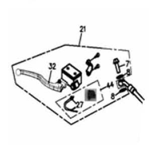 Bremszylinder Links kpl. Adly Her Chee ATV/Quad 280/320