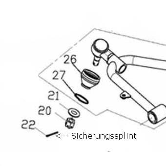 Adly Sicherungssplint Kronenmutter 2*19 ATV Quad 50