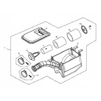 Luftfilterelement A (innerer Luftfilter) Adly/Her Chee 280