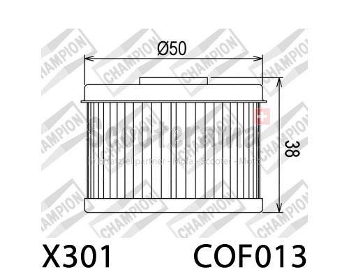 Ölfilter CHAMPION COF013 / X356