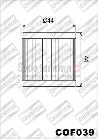 Ölfilter CHAMPION COF039 / X345