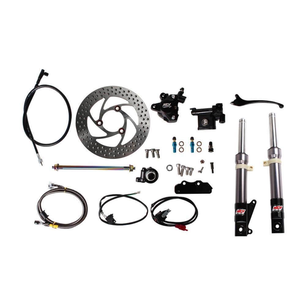 NCY Front End Kit (Titanium Grey, No Rim); Honda Ruckus
