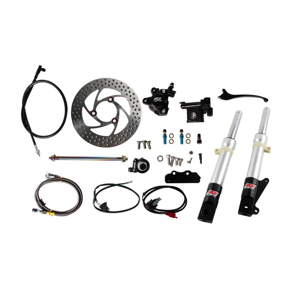 NCY Front End Kit (Silver Forks, No Rim); Honda Ruckus