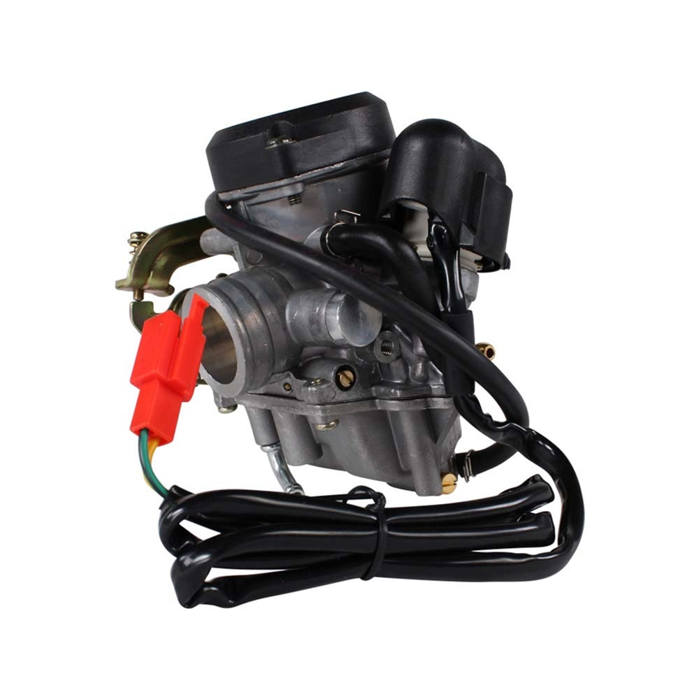 hight resolution of performance scooter carburetor gy6 qmb139 scooterworks usacarburetor front view