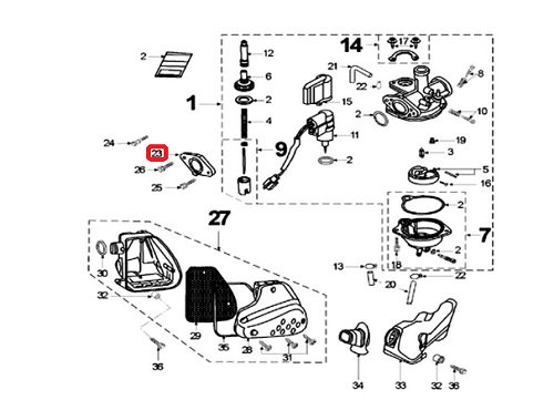 Joint de carburateur Peugeot Speedfight