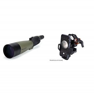 Celestron 52257 Ultima 100 Straight Spotting Scope with Universal Smartphone Adapter