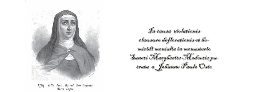 Processo per la violazione della clausura e l'omicidio di una monaca, commessi da Paolo Osio.