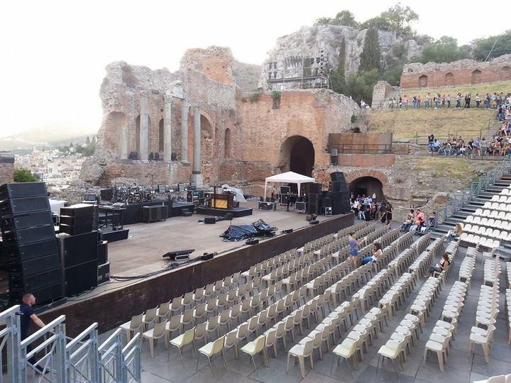 taormina teatro antico greco preparativi concerto