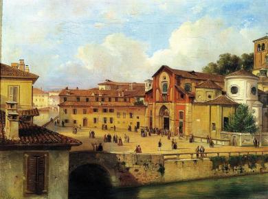 Piazza San Marco in una veduta ottocentesca