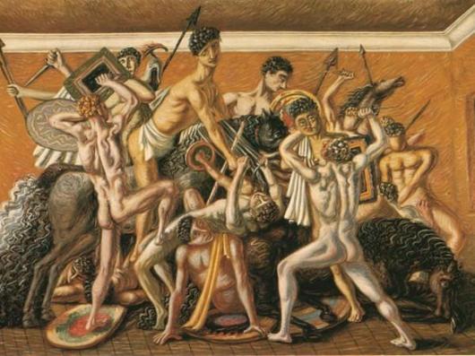 De Chirico, Scuola dei Gladiatori