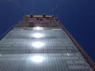 La Torre Isozaki in costruzuine
