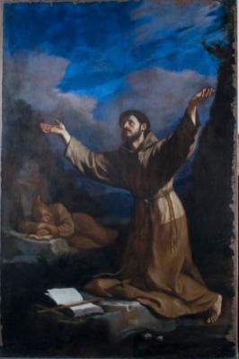 Guercino, San Francesco riceve le Stimmate, 1633
