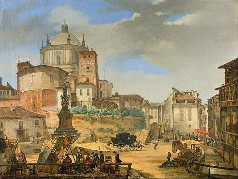 veduta di piazza Vetra (1833)