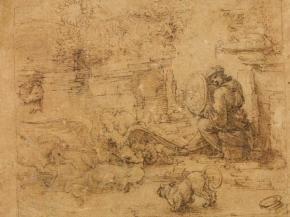 Disegno di Leonardo su pergamena