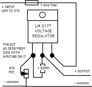 schematic diagram of a DC variable power supply 0-12 volts