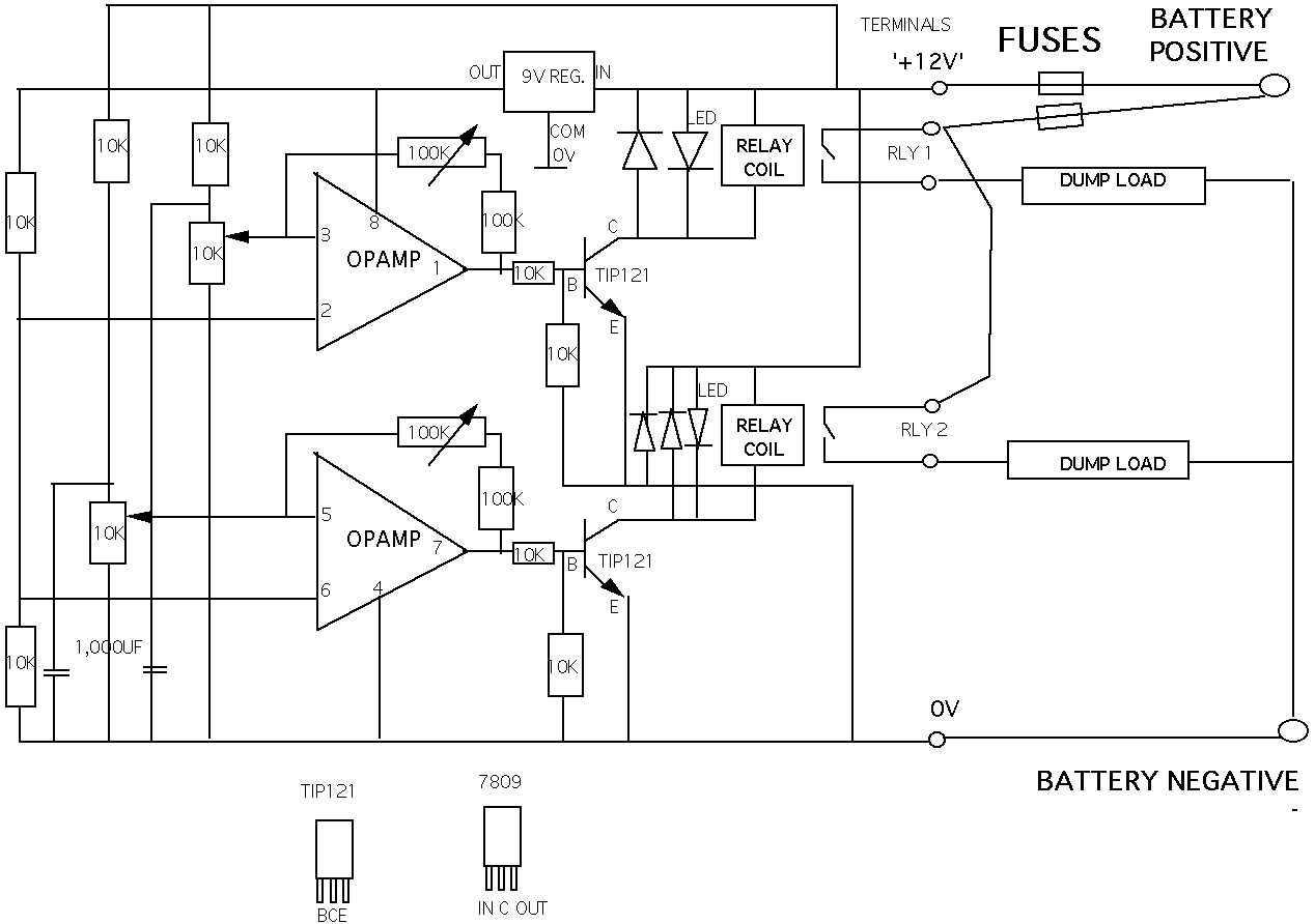 solar panel charge controller circuit diagram 5 wire control with relays