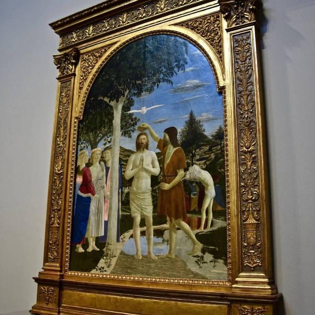 """""""Il Battesimo di Cristo"""" di Piero - National Gallery (Londra, Inghilterra)"""
