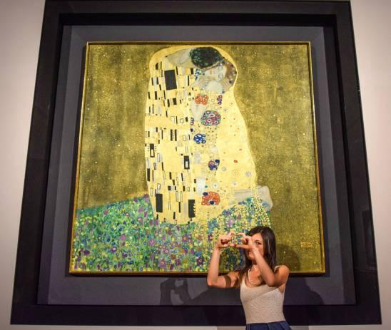 Belvedere Palace, Bacio di Klimt - Vienna, Austria (Europa)