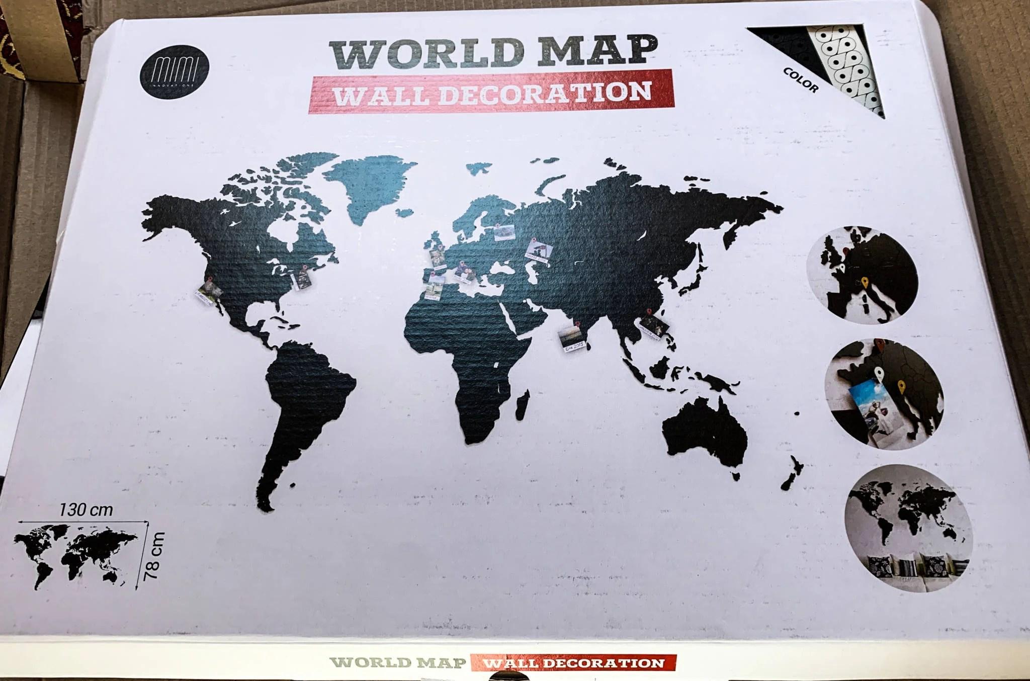 Cartina Geografica Per Segnare Luoghi Visitati.La Mappa Del Mondo Dove Segnare Viaggi E Paesi Visitati