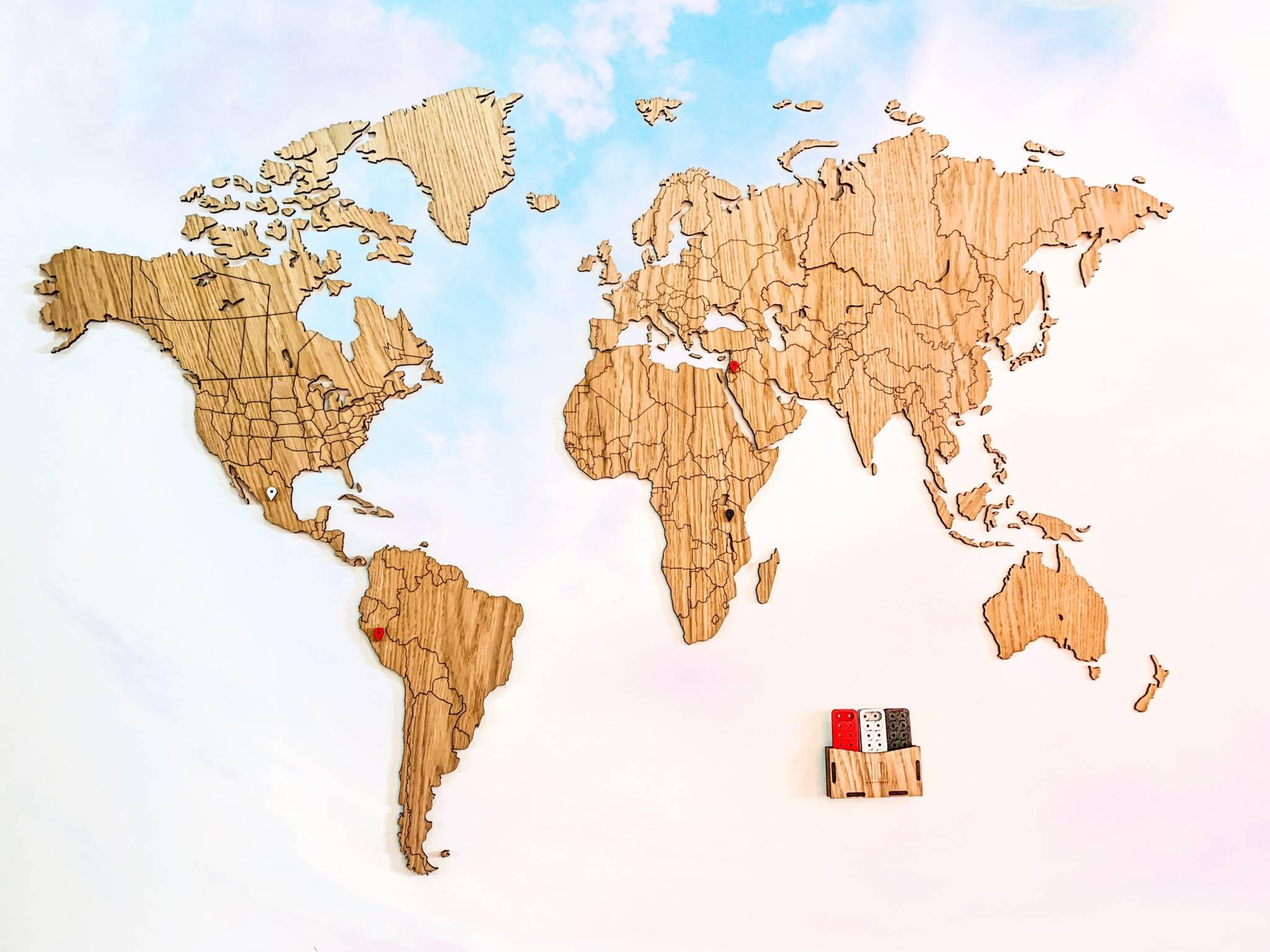 Cartina Mondo Tiger.La Mappa Del Mondo Dove Segnare Viaggi E Paesi Visitati