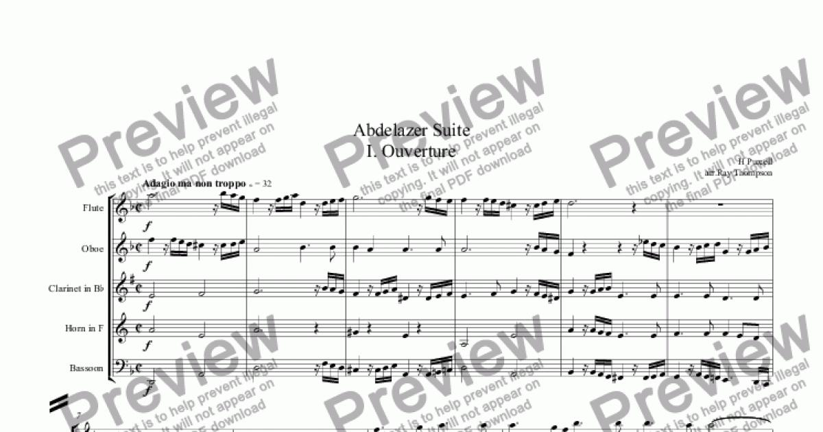 Purcell: Suite from Abdelazer (Complete): 1. Ouverture 2