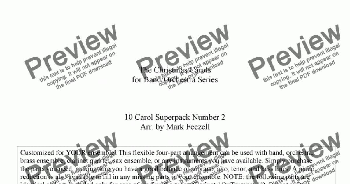 Christmas Carols (Band/Orchestra, flexible arrangements