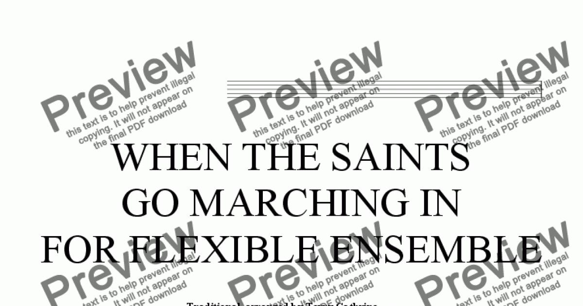 When The Saints Go Marching In for flexible ensemble