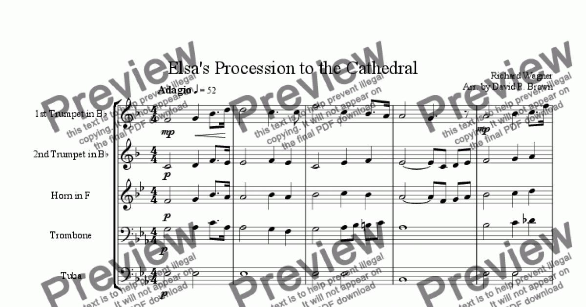 Trumpet I in Bb part from Elsa's Procession to the