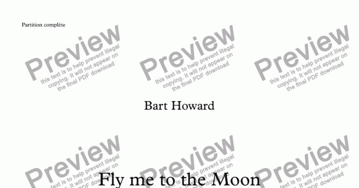 Fly me to the moon bart howard alto sax