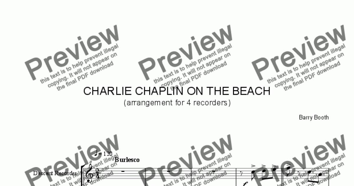 Charlie Chaplin On The Beach (for mixed recorders