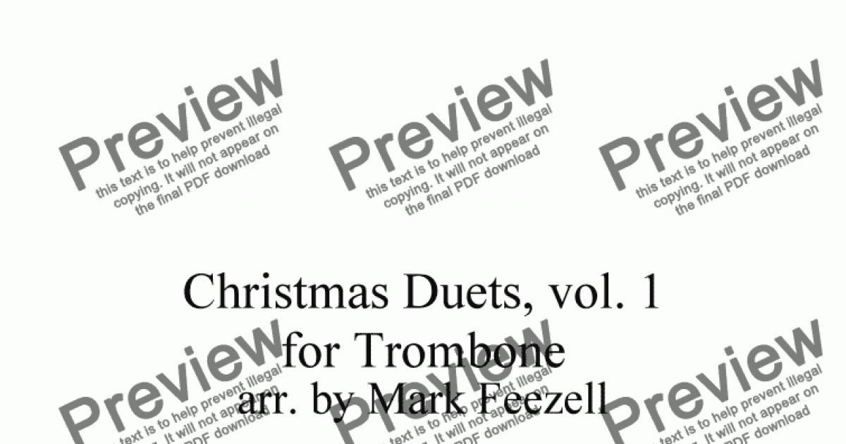 Christmas Carols (Trombone Duets), Vols. 1 and 2 together