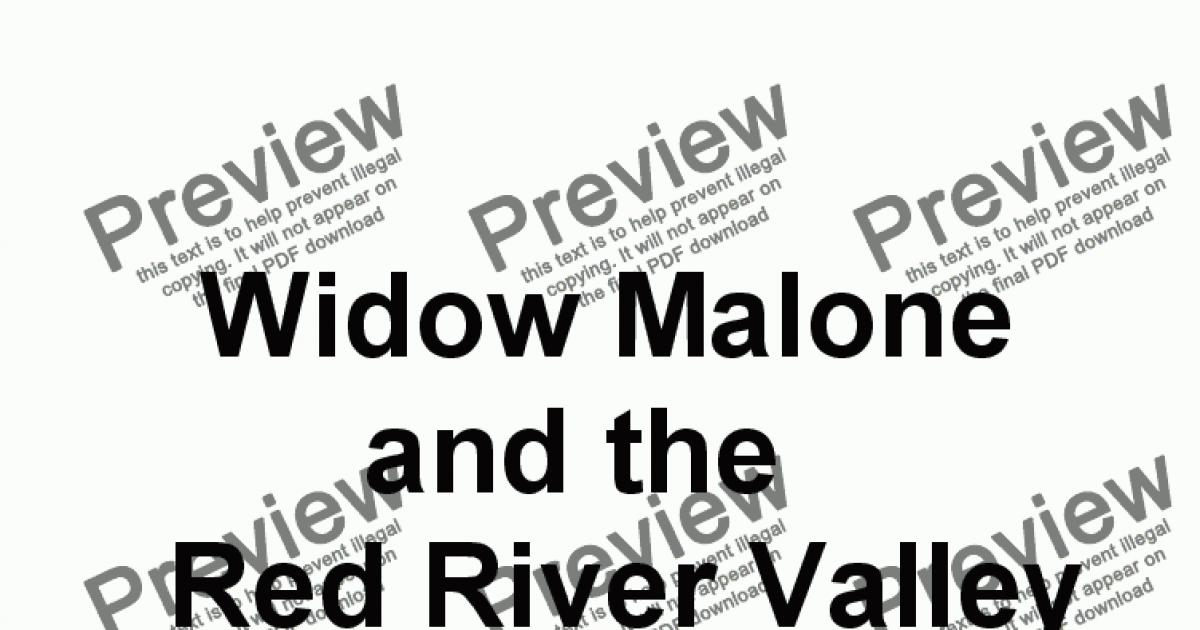 WIDOW MALONE AND THE RED RIVER VALLEY SALOON (Complete