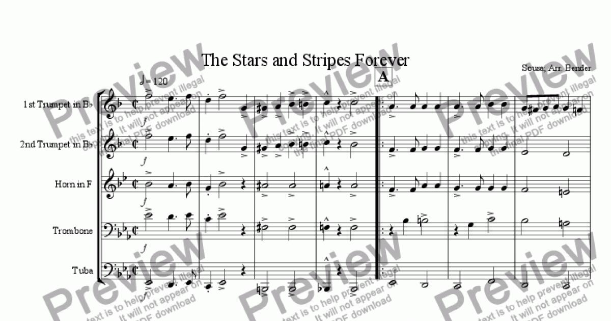 French Horn part from The Stars and Stripes Forever