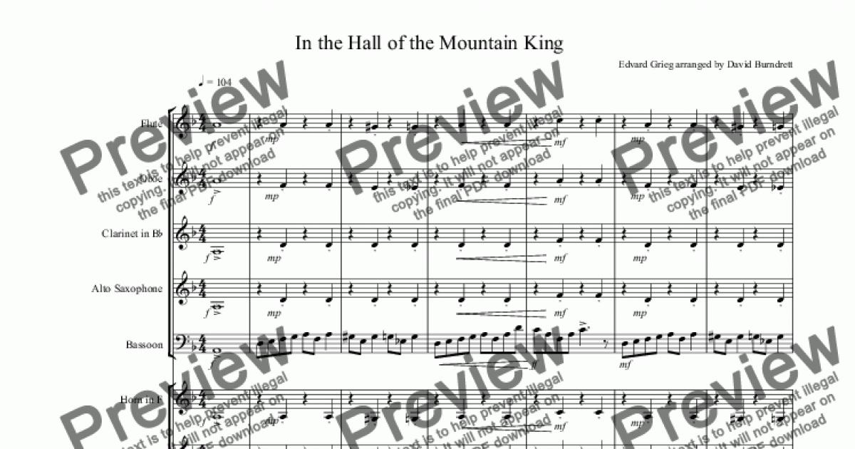 In the Hall of the Mountain King for School Orchestra