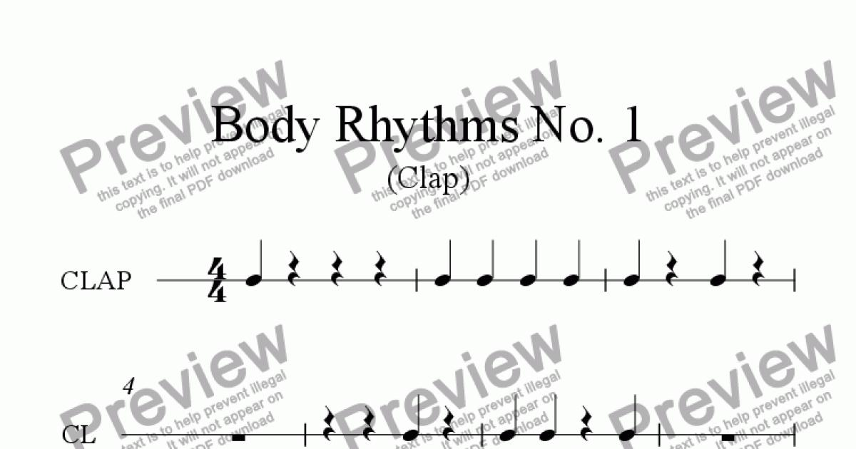 Reading Rhythms, Clapping Quarter Notes and Rests