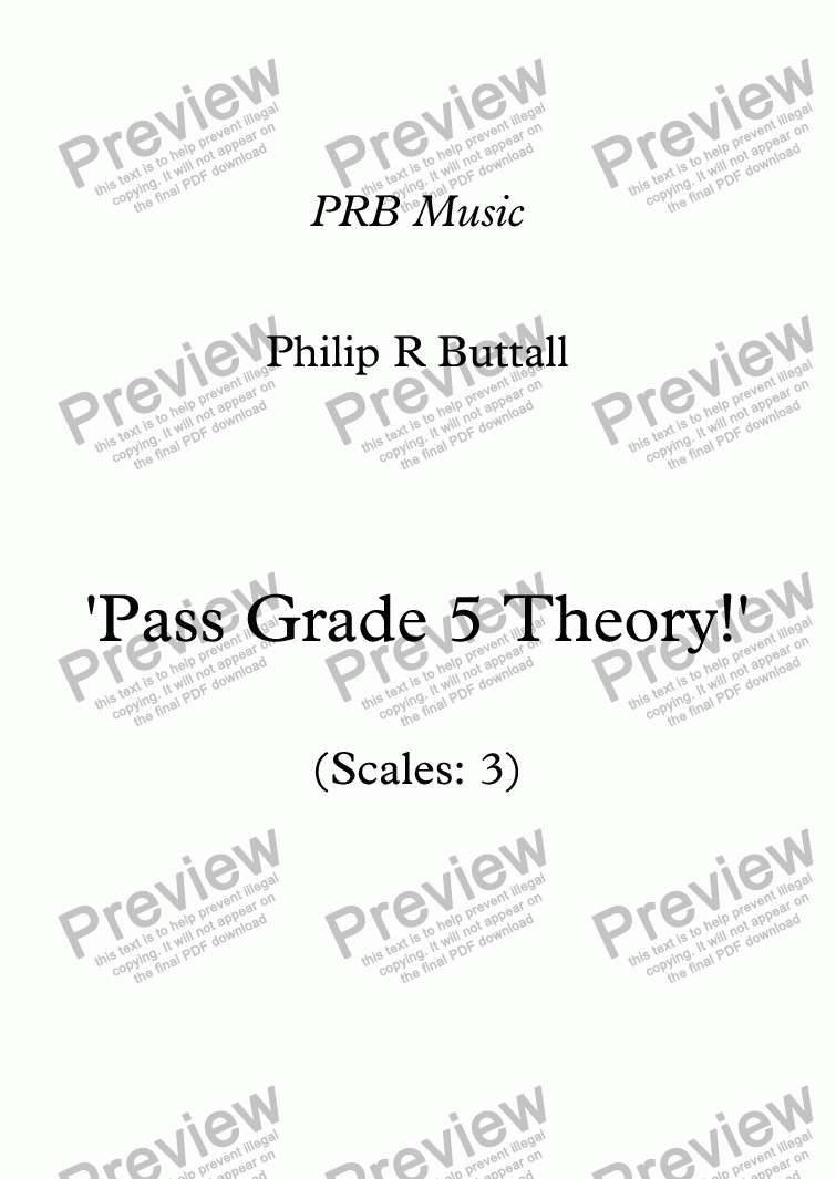 hight resolution of Worksheet: 'Pass Grade 5 Theory!' - Scales 3 - Sheet Music PDF file