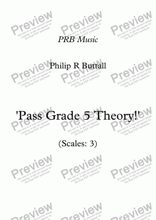 small resolution of Worksheet: 'Pass Grade 5 Theory!' - Scales 3 - Sheet Music PDF file