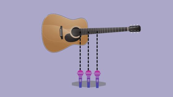 trident recording technique for acoustic guitar
