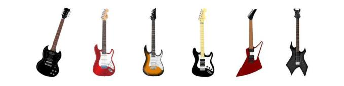 electric guitars weigh according shape and size