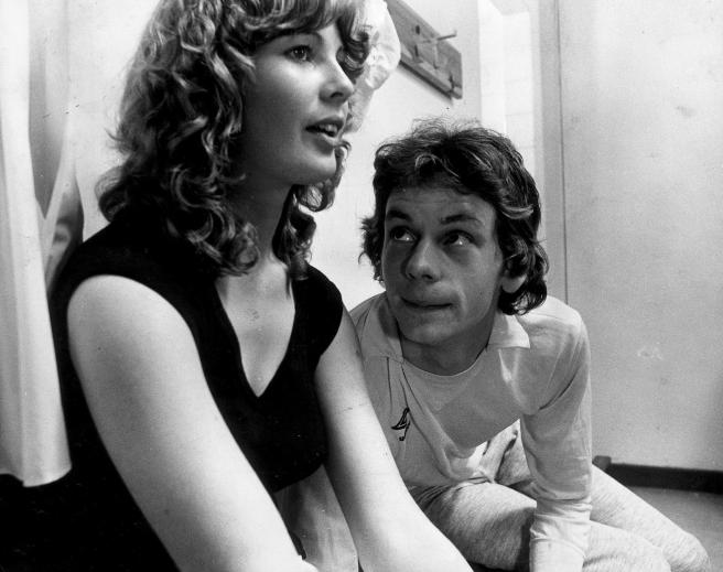 Dee Hepburn as Dorothy and John Gordon Sinclair as Gregory in the 1981 classic movie, Gregory's Girl. It was released 40 years ago today. PIC: Contributed.