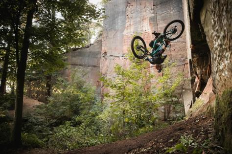 An abandoned sandstone quarry in Shropshire has been used by Danny MacAskill for his new video. Picture: Dave Mackison