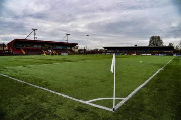Ochilview, home of Stenhousemuir FC, is preparing for the return of football. (Photo by Rob Casey / SNS Group)