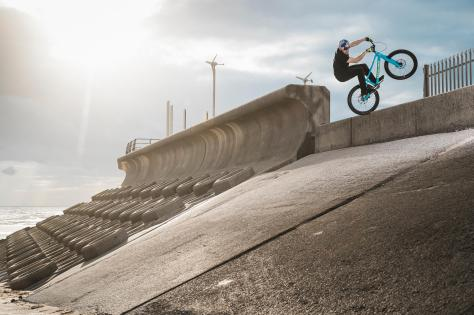 Danny MacAskill in Blackpool. Picture: Dave Mackison