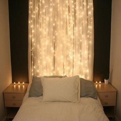 Beautiful Diwali lights headboard
