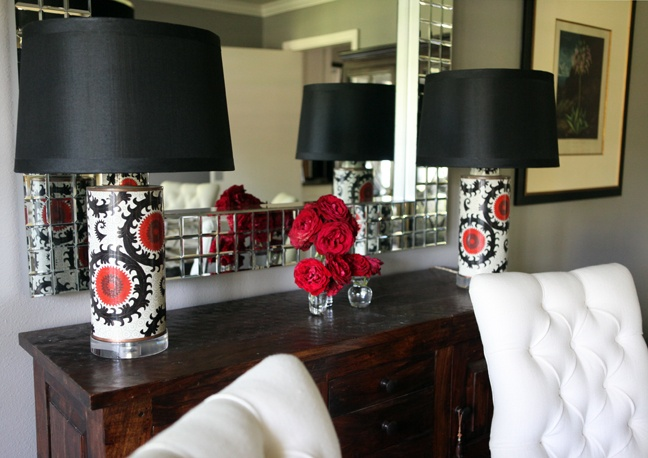 Suzani Table lamps