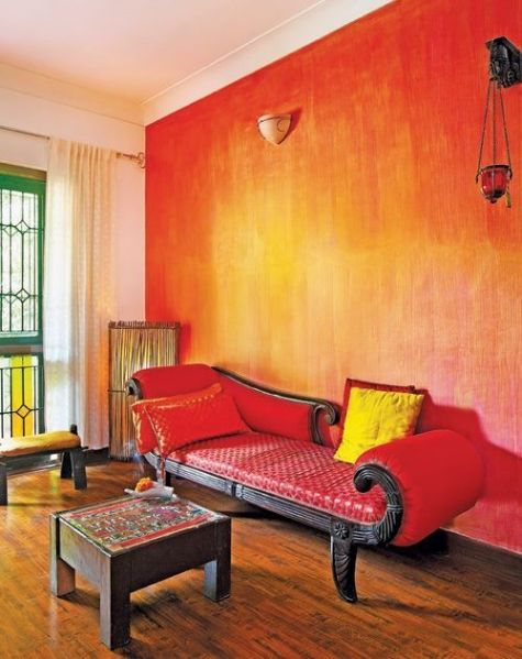 sunset orange for accent wall bedroom Wall Paint Ideas - Scott & Emma