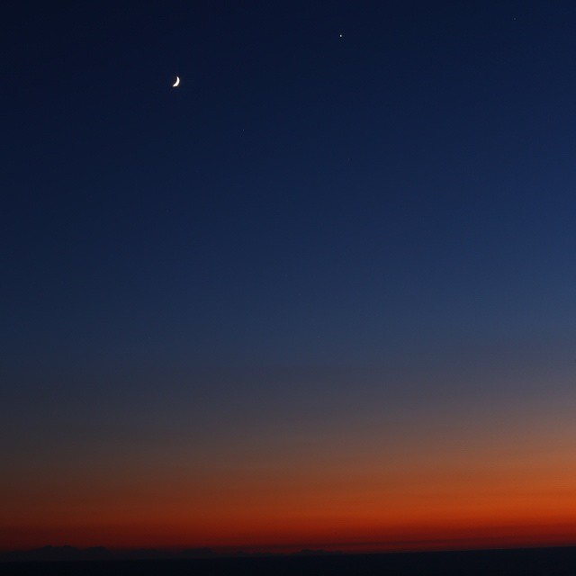 menorca sunset with a little moon on holiday last weekhellip