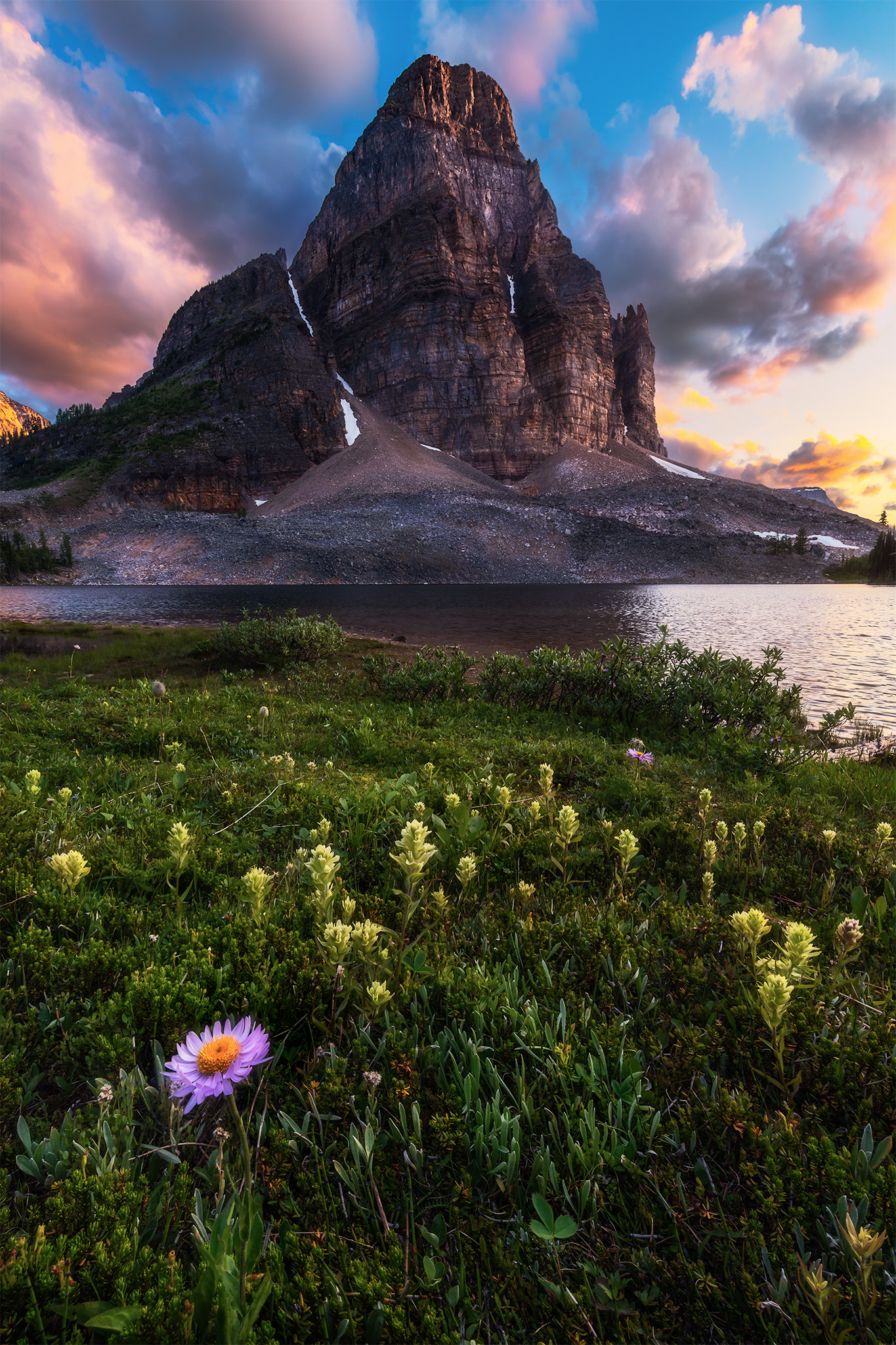 Landscape Photography of Sunburst Peak in Mt. Assiniboine Provincial Park in the Canadian Rockies, British Columbia