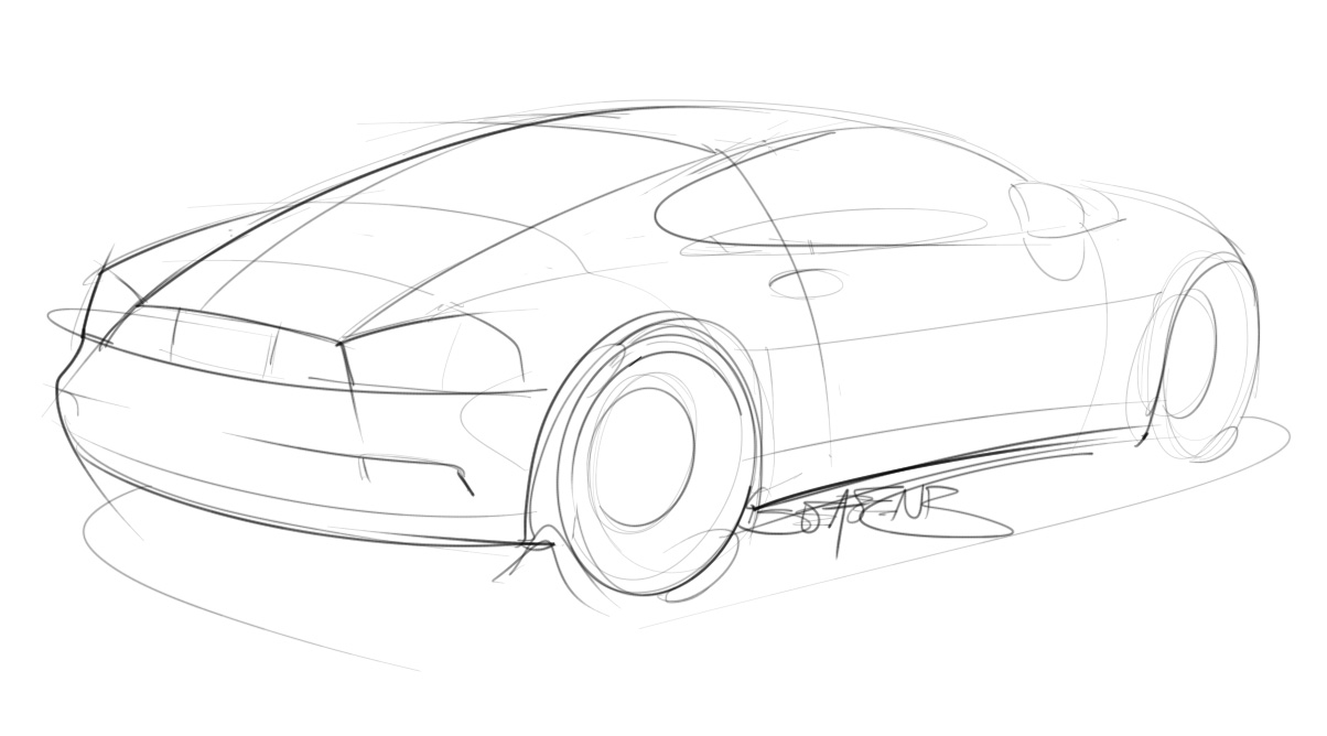 Trying to do at least one car sketch a day